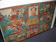 CHINESE CULTURAL REVOLUTION: A machine-embroidered