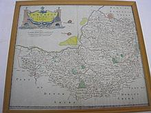 MORDEN, Robert - Somersetshire : hand coloured map