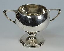 An Edward VII silver twin handled trophy cup,