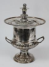 An Edwardian plated ice bucket of Neo- Classical