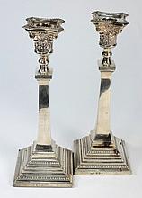 A pair of George VI silver Corinthian column