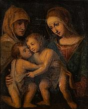 English School- Madonna and Child with Saint