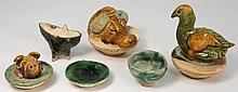 A small group of Chinese pottery: comprising a