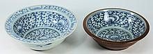 A Chinese porcelain bowl and one other: both