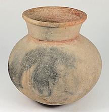 A Ban Chiang (Thailand) pottery urn: of globular
