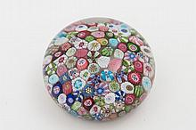 A close packed millefiori paperweight, probably