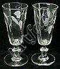 A pair of short ale glasses the drawn bucket