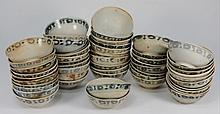 Tek Sing Cargo - Fifty Chinese porcelain bowls: of