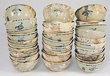 Tek Sing Cargo - Thirty Chinese porcelain tea