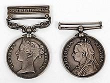 India General Service Medal: with Northwest Fronti