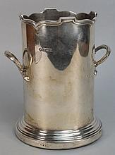 A George V silver syphon holder, maker Richard