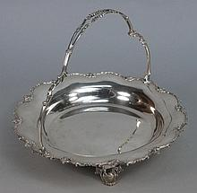 A George V silver swing handled dish, maker George