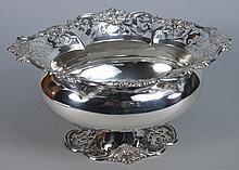 An Edward VII silver pedestal bowl, maker's mark