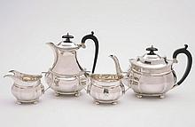 A George V silver four-piece tea service, maker