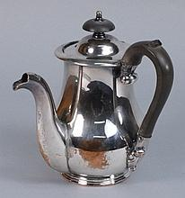A Sheffield plated chocolate pot:, of baluster