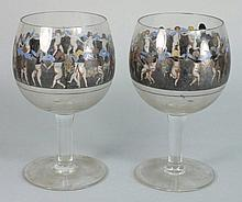 A pair of Vetri d'Arte glass goblets: each