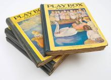PLAYBOX ANNUALS : Five copies, pictorial board, 4t