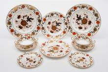 A Royal Crown Derby 'Imari' porcelain dinner service: in the 'Asian Rose' p