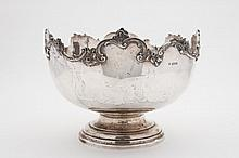A George V silver rose bowl, maker Horace Woodward