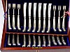 A set of twelve Edward VII silver knives and