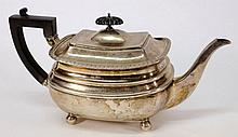 A George V silver teapot, maker James Dixon &