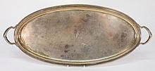A George V silver two-handled tray, maker Harry