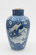 A Chinese blue and white ovoid jar: with