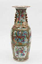 A Cantonese porcelain vase: of oviform with