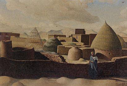 Jacques AZEMA (1910-1979) Maroc, mai 1942 peinture