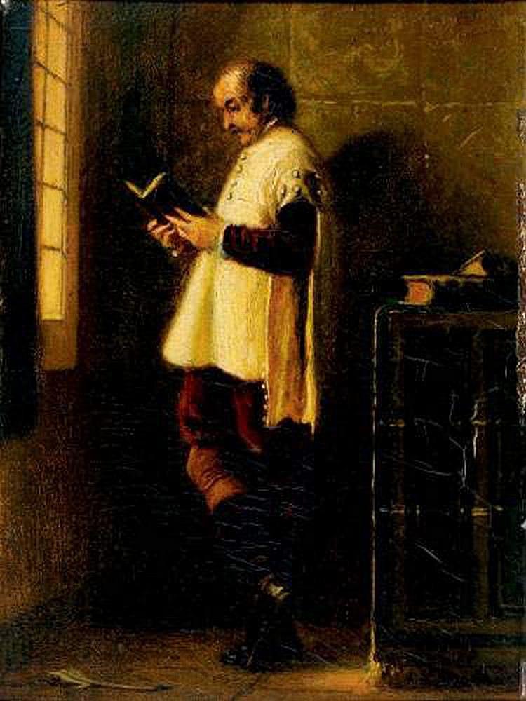Adolphe AZE (1823-1884) - La lecture, 1859