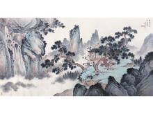 Zhu Mei Village pines water