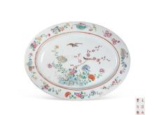Pastel flowers and birds pattern plate