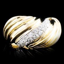 14K Gold 0.38ctw Diamond Ring