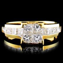 18K Gold 1.50ctw Diamond Ring