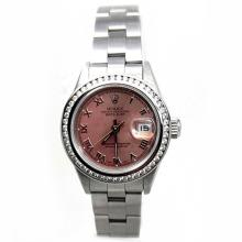 Rolex DateJust SS Oyster 1.00ct Diamond Wristwatch