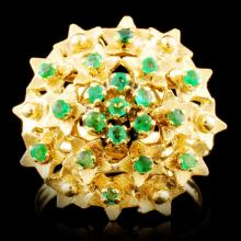 18K Gold 0.48ctw Emerald Ring