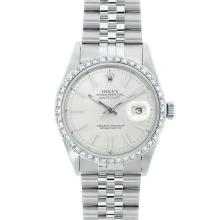 Rolex DateJust SS 1.00ct Diamond Wristwatch