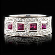 14K Gold 0.59ct Ruby & 0.62ctw Diamond Ring