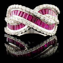 18K Gold 3.09ctw Ruby & 1.12ctw Diamond Ring