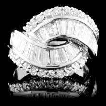 Platinum 2.78ctw Diamond Ring
