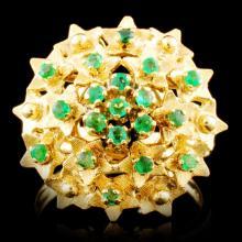 18K Gold 0.48ctw Emerald Ring