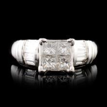 Platinum 0.84ctw Diamond Ring