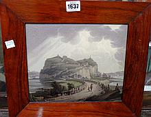 Robert Salmon (1775-1848), Dumbarton Castle on the Clyde, oil on panel, signed with initials and dated 1817, 20.5cm x 24.cm.