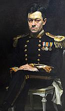Douglas Stannus Gray (1890-1959), Portrait of Lieutenant Commander D.S. Grey R.N., oil on canvas, signed and dated '23, 125cm x 75cm.  Illustrated Exhibited: Spink 1995 The Royal Academy 1924 DDS