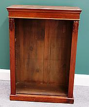 A small 18th century mahogany floor standing open bookcase on plinth base, 69cm wide.