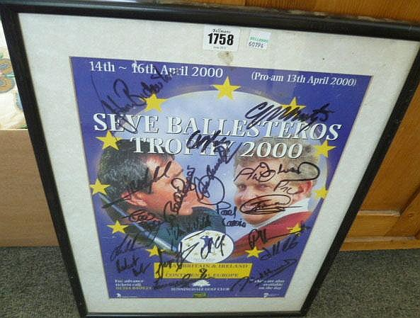 A Sunningdale Golf Club promotional poster, signed
