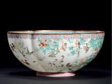 Pastel eggshell bowl birds toward Phoenix
