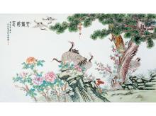 Wang Yijun pastel porcelain figure Songhe