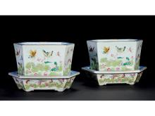 "Pastel one hundred butterflies pattern hexagonal pots even care one pair of ""Le Shoutang"" section"