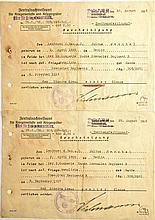 2 BESCHEINIGUNGEN ZUM Eisernes Kreuz 1. Klasse UND Eisernes Kreuz 2. Klasse 1914
